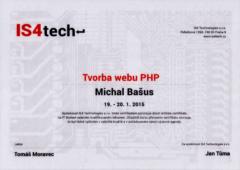 Certifikát tvorba webu PHP