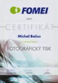 Certifikát fotografický tisk