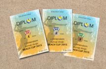 Diplomy pro beach turnaj