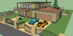 Ukázka návrhu stavby v SketchUp Pro 2015