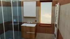 Vyrenderovaná scéna (vizualizace) úpravy koupelny