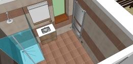 Ukázka úpravy koupelny v SketchUp Pro 2015