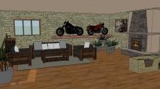 Ukázka návrhu místnosti v SketchUp Pro 2015