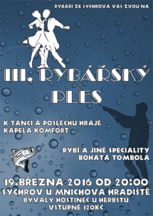 Plakát na rybářský ples