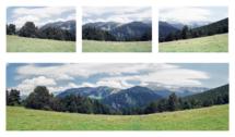 Panorama složené a upravené ze 3ks políček negativu