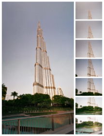 Panorama složené a upravené ze 7ks políček negativu